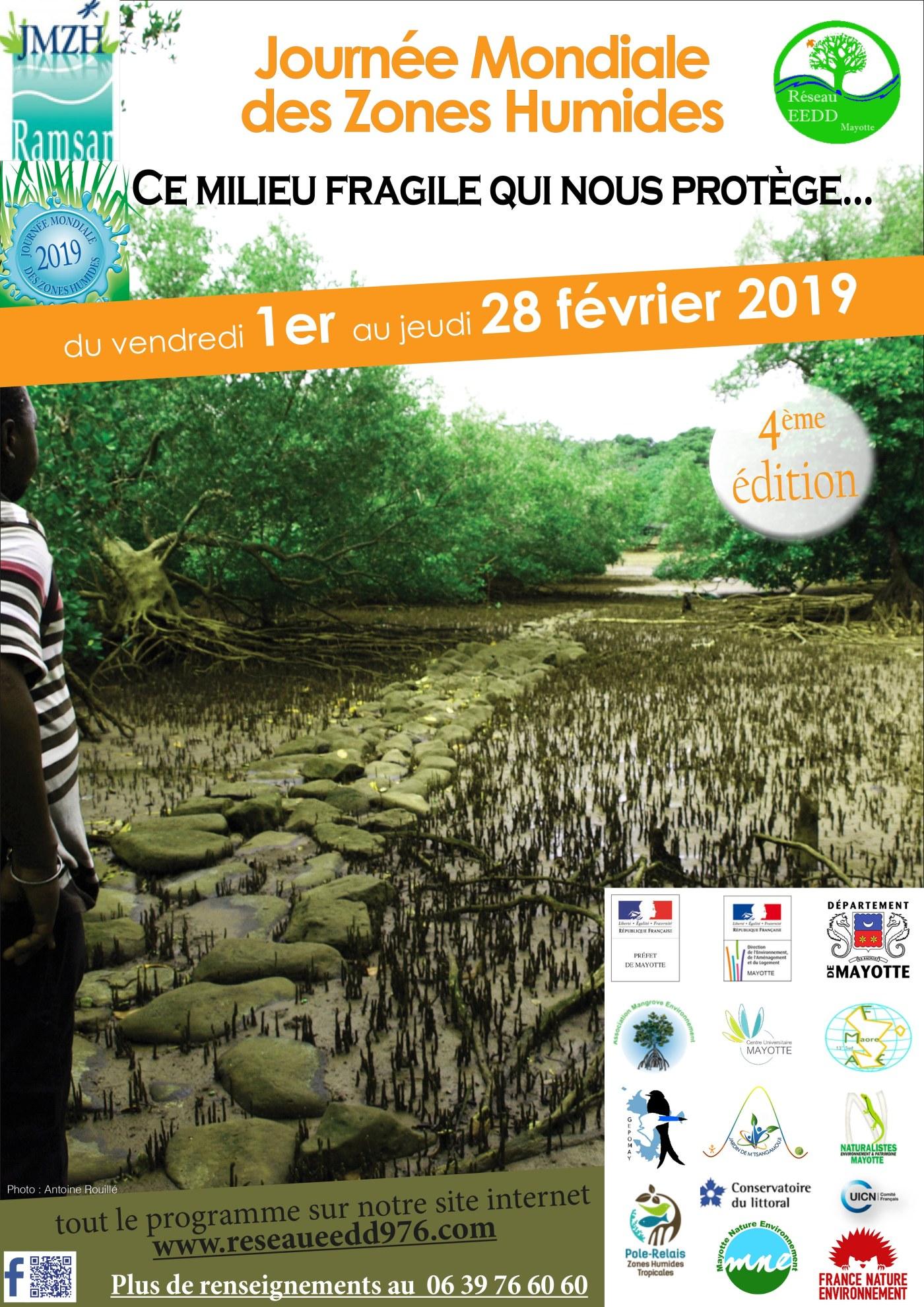 affiche de la journées mondiales des zones humides